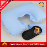 Good Quality Rectangle Velvet Inflatable Travel Air Pillow for Sale
