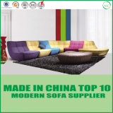 Colorful Genuine Leather Living Room Sofa Bed