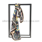 2017 Fashion Custom Design Lady Silk Scarf