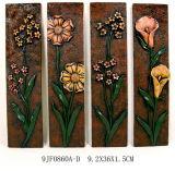 Hot En71 Antique Polyresin Flower Wall Plaque Set