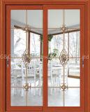 High-Class Aluminium Sliding Door with Built-in Magnetic Shutters (6685)