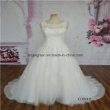 Sleeveless A-Line Lace Wedding Dress