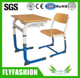 Single School Classroom Student Adjustble Desk with Chair Fashion Design Desk with PP Chair