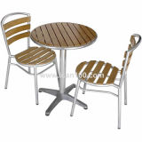 Indoor & Outdoor Polywood Table & Chair Patio Furniture (pwc-350)