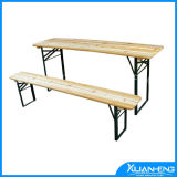 Folding Wooden Beer Table Set