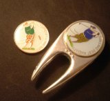 Golf Hat Clip /Ball Marker with Magnet/ Divot Tool