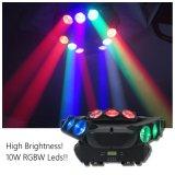 Three Sides 9*10W RGBW LED Moving Head Beam Light for DJ Club
