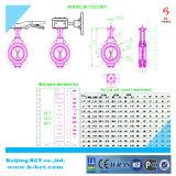 Aluminum Buterfly Valve JIS 10k Standards with Double Acting Pneumatic Actuator Bct-Alu-Bfv07