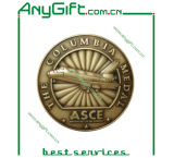 Zinc Alloy Die Casting 3D Medal with Antique Brass Plating (LAG-Medal-09)