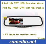 Full HD 1080P 4.3inch Car Rearview Mirror DVR with Video Camera Recorder