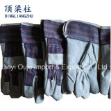10.5 Inch Cowhide Leather Protective Hand Welding Gloves with Ce
