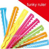 Fancy Design Color 30cm Plastic Unbreakable Stencil Ruler