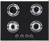 Built in Type 4 Burner Glass Top Gas Stove, 4 Ring Gas Hob for Cooking
