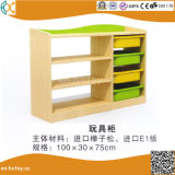 Wooden Children Toy Shelf for Preschool