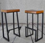 Iron Furniture Bar Stool Wood Top M023