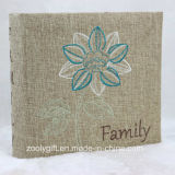 Family Cloth Fabric Photo Album with Beautiful Embroidery
