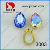 Dz-3003 Faceted Pear Drop Ab Crystal for Wedding Dress