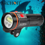 "2600 Lumens LED Dive Light Underwater Video Light with 1"" Ball Arm Mounting Bracket"