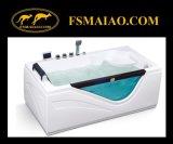 Rectangular Acrylic Freestanding Massage Bathtub W/ Tempered Glass (MG-109)