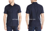 Cool Mens Short Sleeve Cotton Shirt with DOT Printing