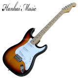 Hanhai Music/Sale Price St Style Tabacco Sunburst Electric Guitar