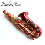 Hanhai Music / Red Alto Saxophone with Eb Key