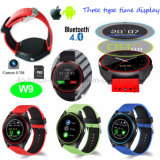 2017 New Fashionable Round Screen Smart Watch Phone W9