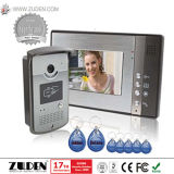 Video Intercom Door Phone with ID Card Reader, Touch Button