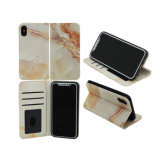 Standing Marbling PU Leather Mobile Accessories Phone Wallet Case