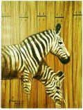 Black and White Zebra Painting (LH-008000)
