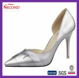 Silver Color High Heeled Shoes