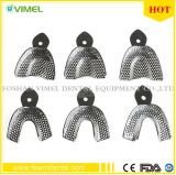 6PCS Dental Products Stainless Steel Impression Tray Bite Denture Instrument
