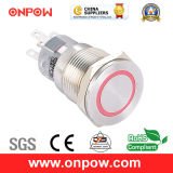 Onpow 19mm Push Button Switch (LAS1-AGQPF-11E/G/12V/S, CE, UL, CCC, RoHS)
