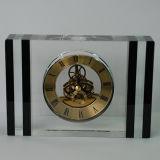 Black Classic Cabinet Decor Crystal Desk Big Watch Accept Logo