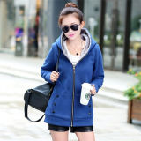 Winter Warm Women′s Fashion Fleece Hoodie with Hooded (50214)