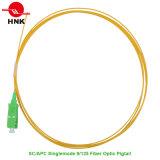 Singlemode 9/125 Sc APC PVC/LSZH Jacket Fiber Optic Pigtail