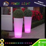 Garden Furniture Round Color Changing Lighting LED Planter