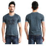 Factory Made Men′s Enzyme Wash T-Shirt
