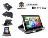 360 Degree Rotary Leather Case for HTC Flyer