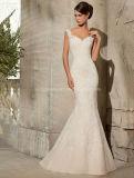Fashion Sleevelss Lace Mermaid Wedding Bridal Dress