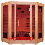 2016 Solid Wood Sauan Room Far Infrared Home Sauna