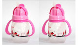 250ml Custom Cheap BPA Free Plastic Water Bottle With Handle For Kids