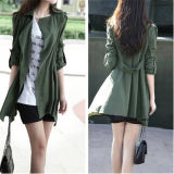 OEM Service Long Military Style Fancy Women Jacket (50218)