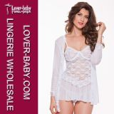 Woman Bridal Lace Robe Babydolls and Chemises (L27882-1)