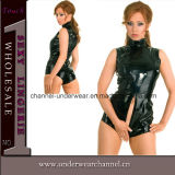 Different Size Sexy Faux Leather Romper Lady Lingerie (TXX647)