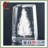 Crystal Cube with 3D Laser Logo Engraving Can Be Customized