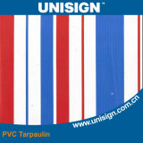 Striped Colors Coated PVC Sunshade Tarpaulin