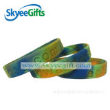 Swirled Debossed Silicone Wristbands for Promotion