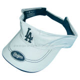 Womens Cotton Drill Sports Visor with Contrast Sandwich