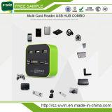 4 Ports USB 3.0 Hub + TF / SD Card Reader